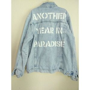Other - Strata Another Year in Paradise Denim Men Jacket